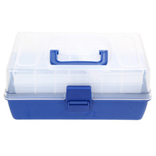 Fishing Tackle Boxes With 7 Bars Open Double Fishing Lure Bait Hook Storage Transparent Fishing Case Waterproof Fishing Tool