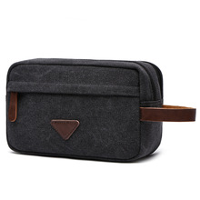 Portable Man Travel Wash Bag Canvas Cosmetic Bags Men's Bath Make Up Toiletry Bag Zipper Women Makeup Organizer Necessaries Case(China)