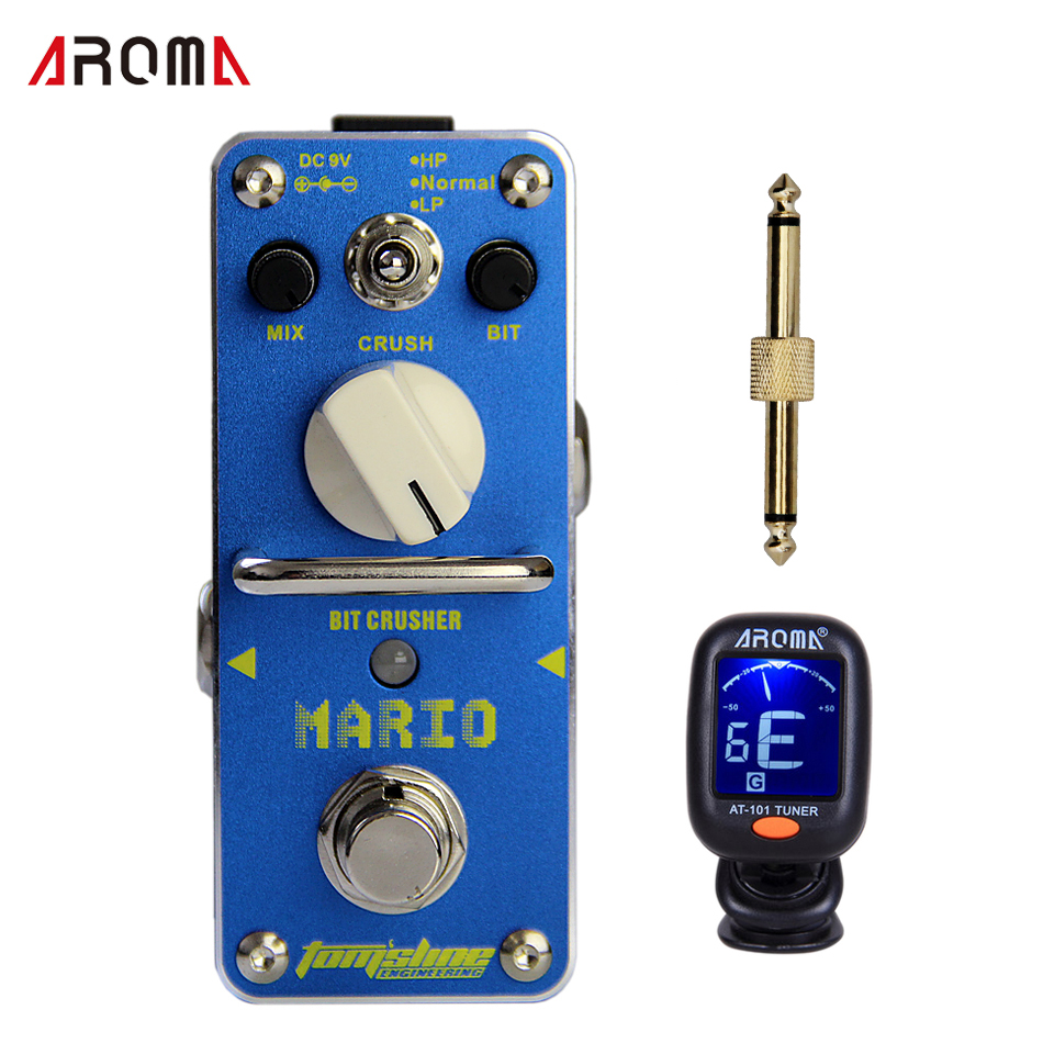 AROMA AMO-3 MARIO Bit crusher Mix, bit and crush control 3 modes of HP, normal and LP Mini Digital Effect<br>