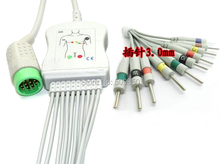 Compatible MEDTRONIC PHYSIO CONTROL Lifepak 12 EKG cable 10 lead ecg cable din3.0 lead on terminal