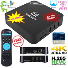 [SINTRON] ST905X Android 6.0 TV Box Quad Core 2GB/16GB 4K Ultra HD Media Player Bluetooth, Jailbroken With Latest KODI(China)