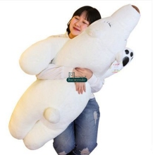 Dorimytrader 110cm Jumbo Lovely Soft Plush Animal Polar Bear Sleeping Pillow 43'' Giant Cartoon Bear Doll Toy Kids Gift DY60487