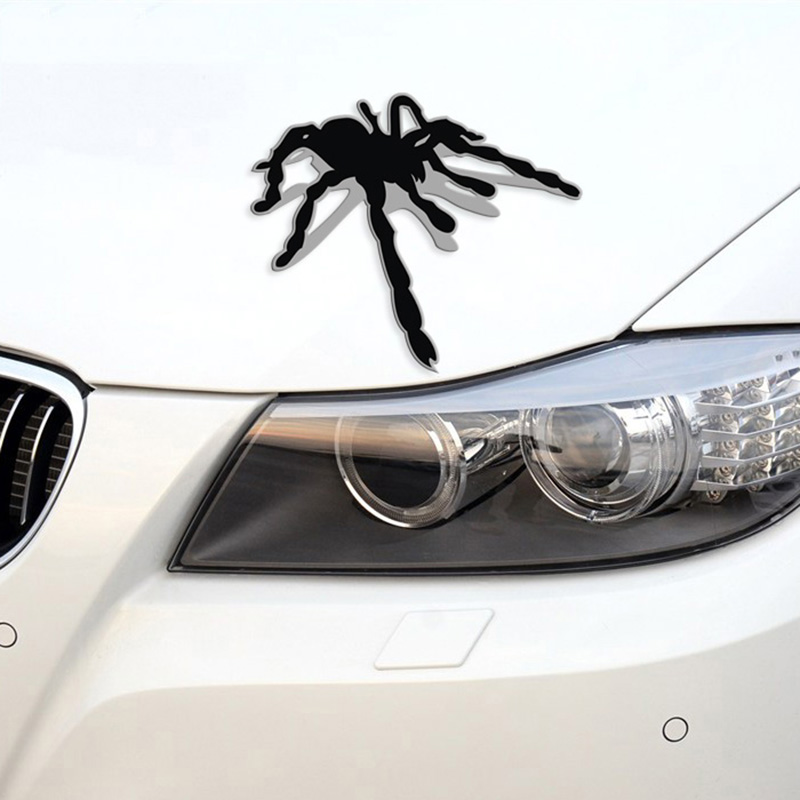 New Stickers Refit Car Accessories Funny Car Sticker 3D Spider Styling