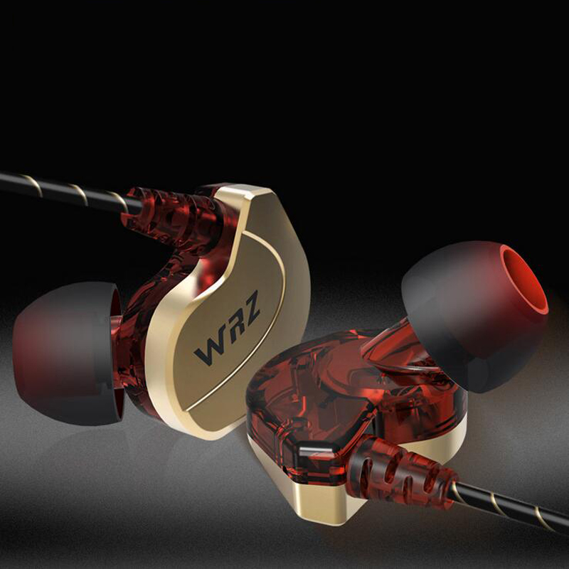 WRZ X6 Earphones and Headphone Dual Dynamic Driver Professional In Ear Sport Detach Earphone With 2 Drivers inside HiFi Mic<br><br>Aliexpress