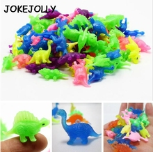 10 pieces plastic Mini dinosaur toys can be loaded into a small toy for children kids gift GYH(China)