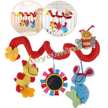 1pc Cute Stroller Rattle Baby Toys Multifunctional Bed Hanging Bell Plush Toy learning & education Toys for 0-12 Months Gifts