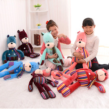 Candice guo plush toy stuffed doll cartoon animal little bubu bear ted teddy scarf lover kid birthday gift christmas present 1pc(China)