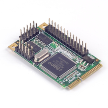 Mini PCI-e 1 Parallel IEEE 1284 Controller card mini PCI express to DB25 printer LPT port adapter for mini ITX Chip MCS9901