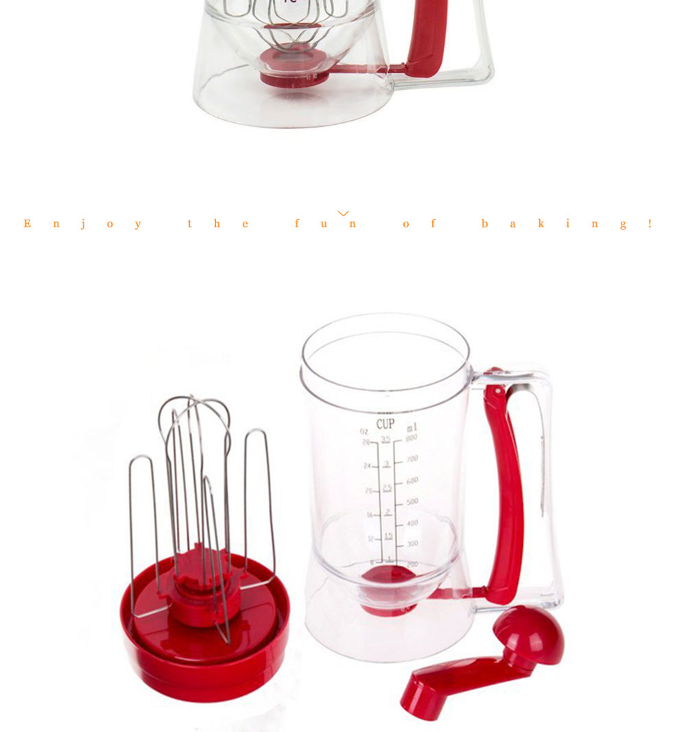 3-in-1 Manual Mixer Batter Dispenser for Cupcakes Muffins Cake Waffles Pancake Machine with Measurements Cookie Tools 010 (12)