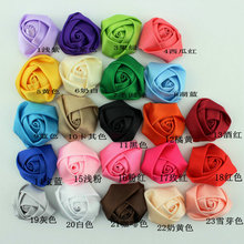 10pcs Wholesale Kids Hair Accessorie Girls Hair Accessory Corsage Sewing On Dress DIY Fabric Flower Bud rosebud