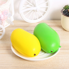 13cm Kawaii Jumbo Slow Rising Soft Squishy Mango Toys Cell Phone Straps Charms Pendant Key Chain Pendant(China)
