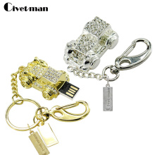 Crystal Key chain 4GB 8GB 16GB 32GB Flash Memory Best Selling Old Car usb flash drive Hot Usb 2.0 pendrive