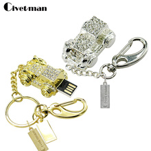Crystal Key chain 4GB 8GB 16GB 32GB Flash Memory Best Selling Old Car usb flash drive Hot Usb 2.0 pendrive(China)