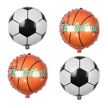 Football Basketball Foil Balloons inflatable helium balloon Children Classic Toys happy birthday Party Decoration air balloons(China)