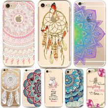 Phone Cases for Apple iPhone 5 5S SE 6 6S Plus 6Plus HENNA DREAM CATCHER Vintage Paisley Mandala Flowers TPU Silicon Cover Capa(China)