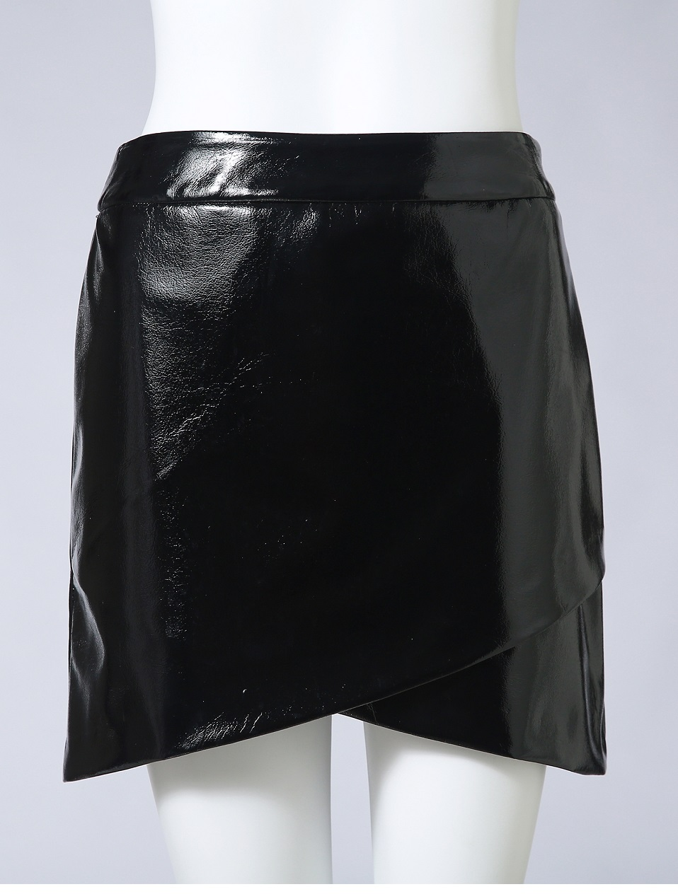 Autumn Winter Women Sexy Mini Skirt Black faux Patent Leather Female Short Pencil Skirt Zipper Fashion Streetwear Skirts Talever 10