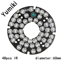 Yumiki Infrared 48 x 5 IR LED board for CCTV cameras night vision (diameter 60mm)