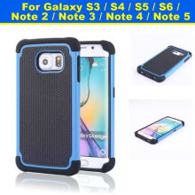 Phone 3 in 1 TPU PC Silicone Rubber Armor Case Shockproof Cover For Samsung Galaxy S3 5.7 inch Multi Colors
