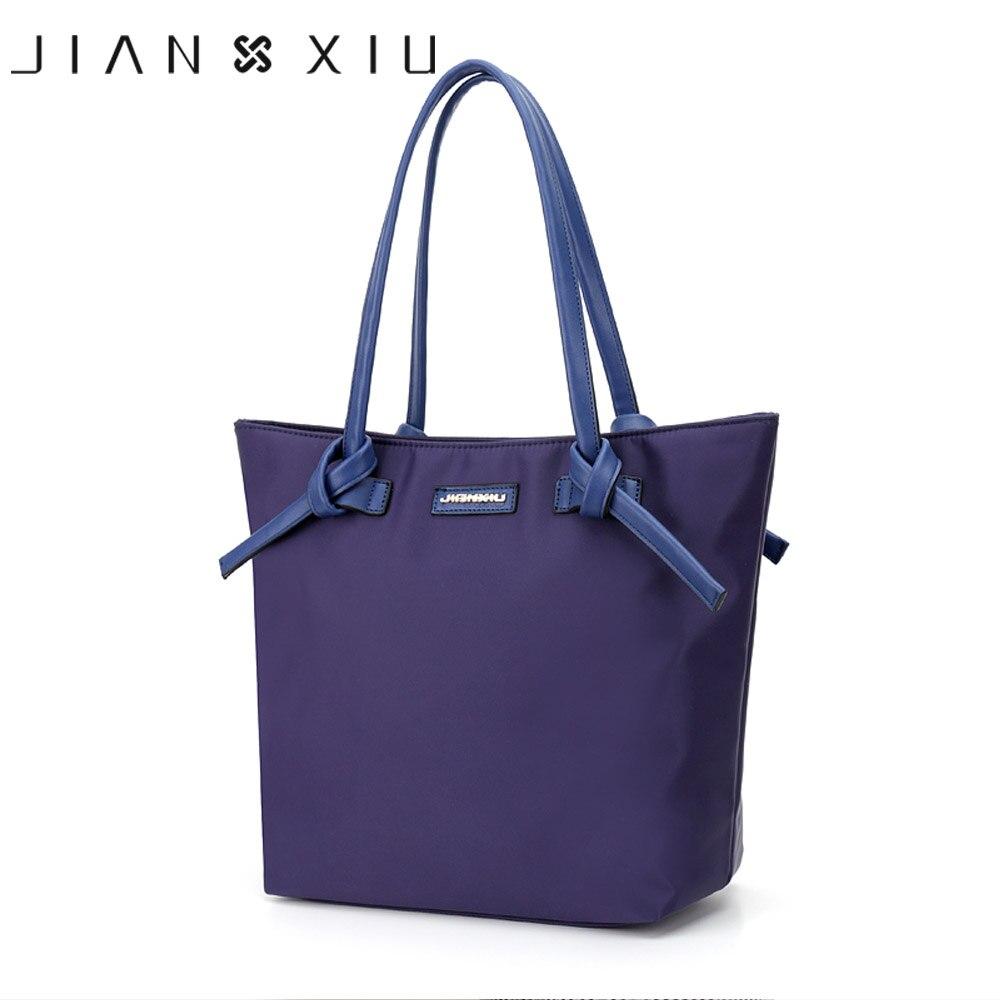 JIANXIU Women Bag Bolsa Feminina Bolsas Sac a Main Bolsos Mujer Tassen Shoulder Bags Nylon Waterproof Handbag 2017 New Big Tote<br>