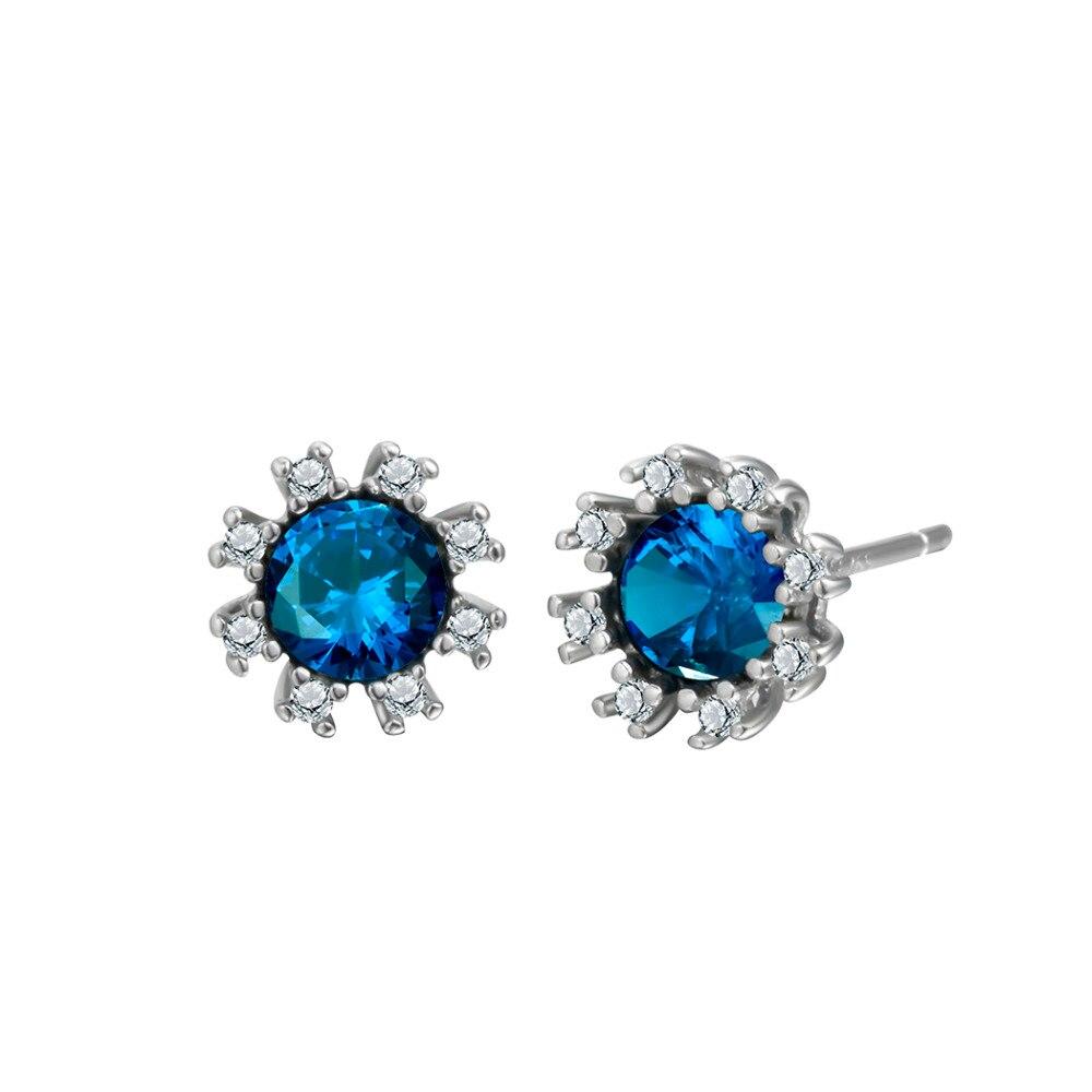 QIAMNI-925-Sterling-Silver-Shining-Blue-Round-Zircon-Flower-Stud-Earring-for-Women-Girls-Pendientes-Christmas