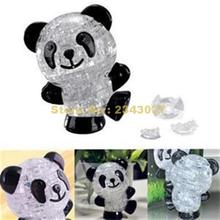 Practical Gift For Kids Classic Toys Creative Cute Panda Shape 3d Puzzles Crystal Puzzle Diy Toy