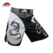 SUOTF MMA dragon boxing domineering motion picture cotton loose size training kickboxing shorts muay thai boxing mma shorts(China)