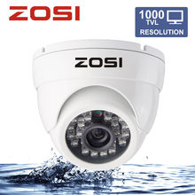"ZOSI 1/3"" Color HD CMOS 1000TVL High Resolution 4.6mm Lens IR Cut 24pcs IR Night Vision Outdoor/Indoor Dome Security CCTV Camera"