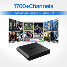 Italy Arabic IPTV Box Android 6.0 S905X Quad-core Smart TV Box HD Media Player with Europe IUDTV IPTV Subscription Set Top Box