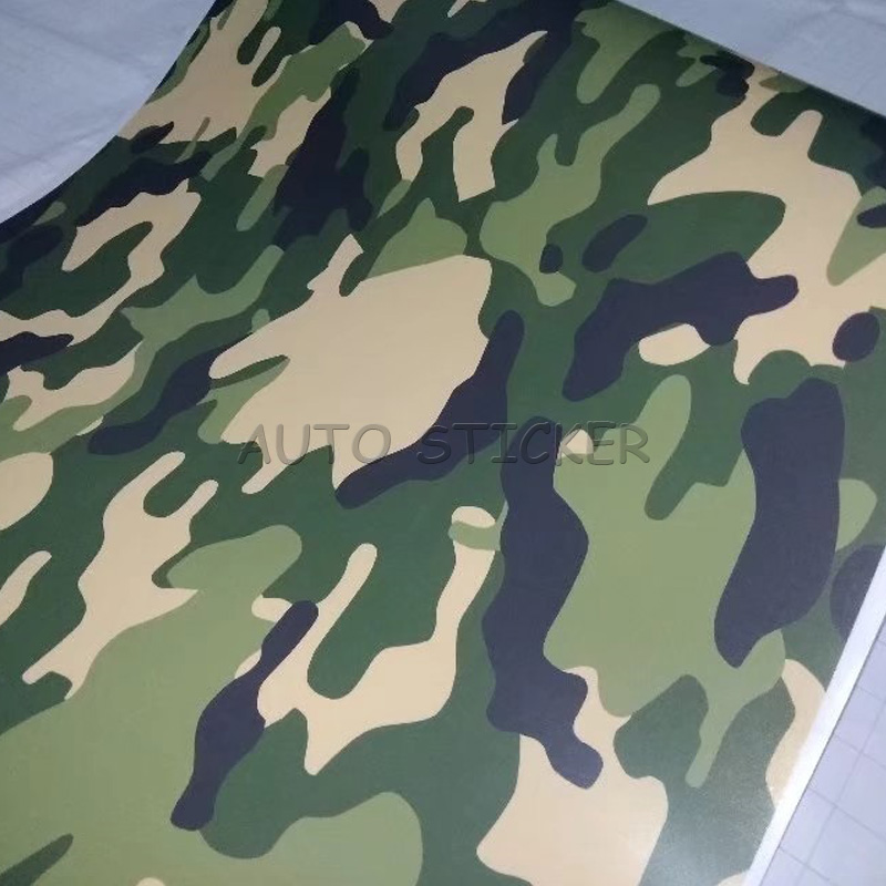 Army green black snow camo vinyl 6