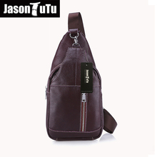 JASON TUTU 100% genuine leather men bag brand design men chest pack messenger bags vintage shoulder bags 2017 new listing HN18