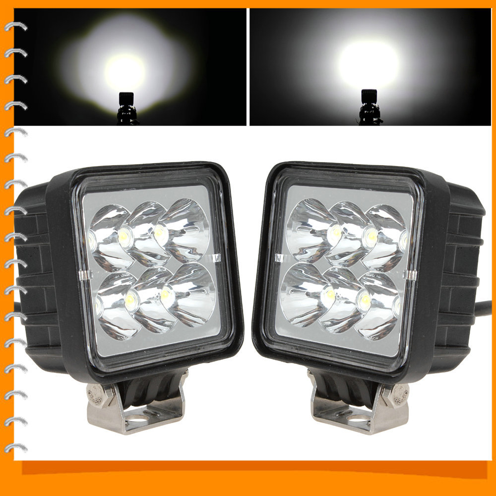 2pcs/pair! 3 Inch 12V / 24V 18W LED Work Light Lamp Waterproof 6000K Off road LED Worklight for Tractor Boat 4WD Offroad SUV ATV<br><br>Aliexpress