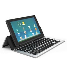 F18 Foldable Bluetooth Wireless Keyboard Portable with Kickstand Holder for Phones Pads Laptops
