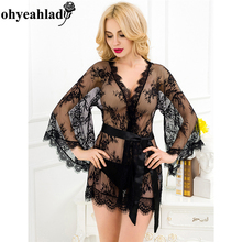 RS80291 One Size Sexy Lingerie Hot Women Clothing Babydoll Lingerie Transparent Lingerie See Through Lace Babydoll Sexy Erotic(China)