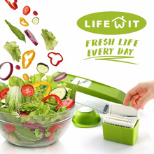 YONTREE Super Slicer Plus Vegetable Fruit Dicer Cutter Chopper Nicer Grater ABS Stock in US(China)