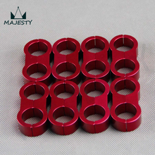 RED  8pcs AN -10 AN10 19MM Black Braided Hose Separator Clamp Fitting Adapter Bracket