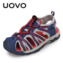 UOVO 2018 New Kids Fashion Sandals Color Matching Design with Buckle Strap Kids Shoes Comfortable Boys Sandals for Eur 25#-32#(China)