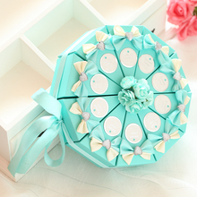 20Pcs/lot Wholesale Cake Shape Candy Gift Box /Romantic Wedding Decoration/ Boxes for Wedding Invitations and Favors(China)