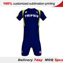 double sided football jersey shirts, reversible soccer jersey(China)