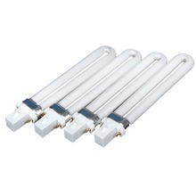 4pcs/lot 9W Nail UV Gel Machine Lamp Light Bulb Tube for Nail Dryer Professional Electronic Nail Dryer UV Lamp Tube Replacement