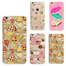 Pizza Soft Silicon For iPhone X 8 7 5 5S SE 5C 6 6S Plus 4 4S Cover Case Coque