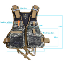 Camouflage Buoyancy Men Fly Fishing Vest Professional Whistle Life Jacket Detachable Fishing Clothes Fishing Tackle Equipment