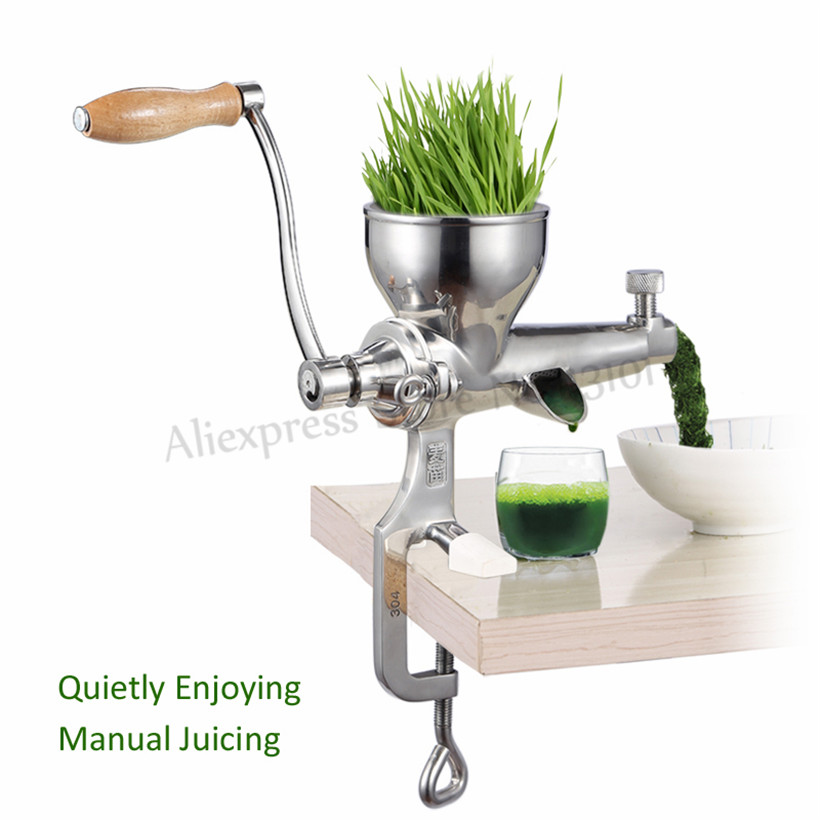 Stainless Steel Manual Juicer Fruit Vegetable Juice Extractor Orange Lemon Wheatgrass Squeezer 100% Original Juice-in Juicers from Home Appliances