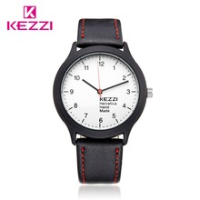Casual Sport Watch For Men Simple Classic Male Quartz Wrist Watches Kezzi Brand Waterproof Leather Band Best Movement 1425