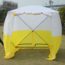 how to Information Engineering tent outside Telecommunication construction tent
