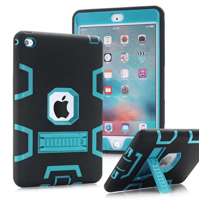 For iPad mini 1/2/3 Kids Baby Safe Armor Shockproof Heavy Duty Silicone Hard Case Cover Screen Protector Film+Stylus Pen Mini 4<br><br>Aliexpress