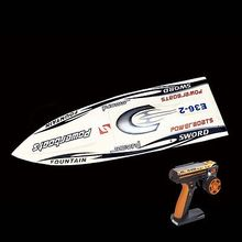 E36 RTR Sword Fiber Glass Racing Speed RC Boat W/1750kv Brushless Motor/120A ESC/Servo/Remote Control Boat White