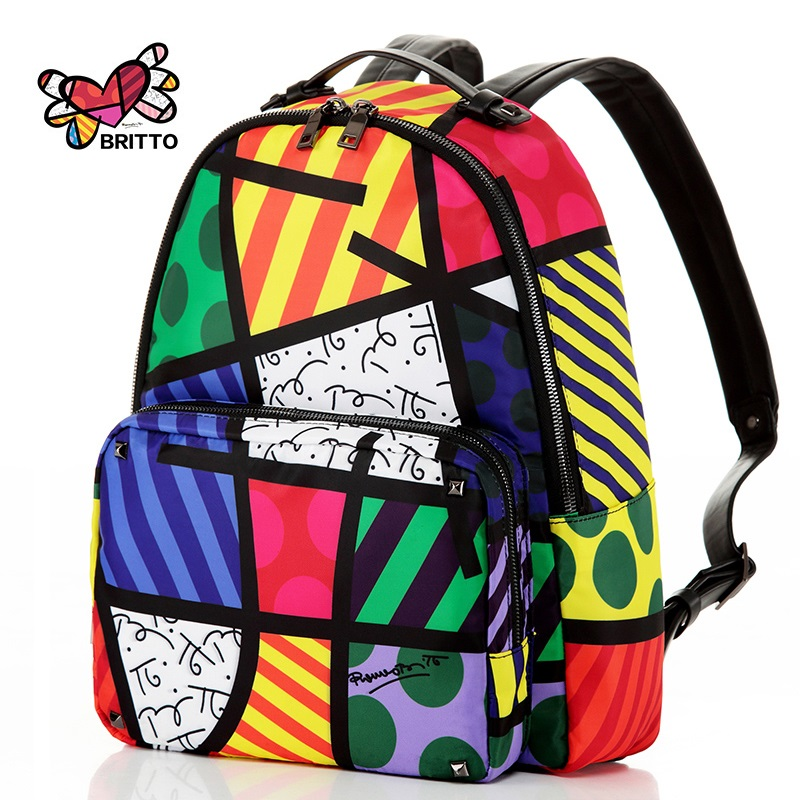 Free Shipping 2017 Hot Sale Graffiti Printed Satin &amp; PU Backpack Rope Bag Embroidered with Multi Colored Print Backpack Female<br><br>Aliexpress