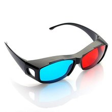 2015  2pcs Red-blue glasses Cyan 3D Myopia & General VISION Game Stereo Movies Dimensional Anaglyph Plastic Glasses