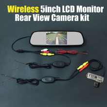 Review Wireless 5inch Mirror Monitor Car Rear View Backup Reverse Camera System Sets For Toyota Ractis / Verso-S / Space Verso