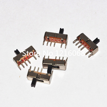 500pcs SS13D07G4 3 Position SPDT 1P3T 6 Pin PCB Panel Mini Vertical Slide Switch Free shipping